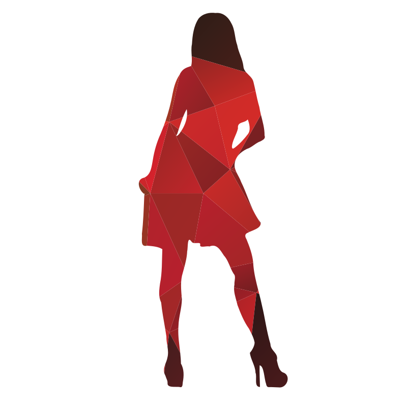 Woman color silhouette