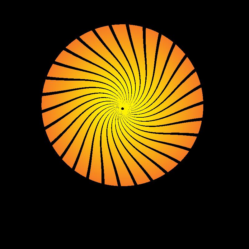 Yellow radial beams