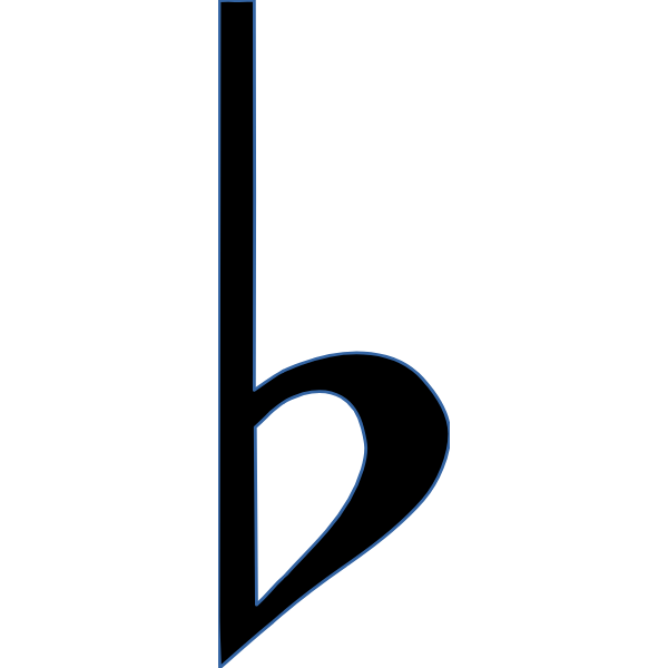 Accidental flat musical symbol