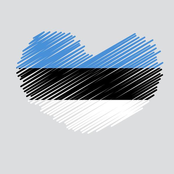 Estonian fag heart shape