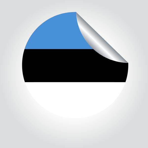 Estonian flag peeling sticker