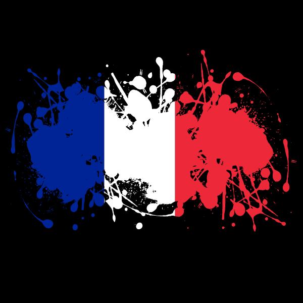 French flag ink splash