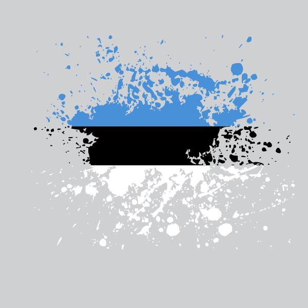 Estonian flag ink splash