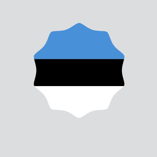 Sticker with Estonian flag