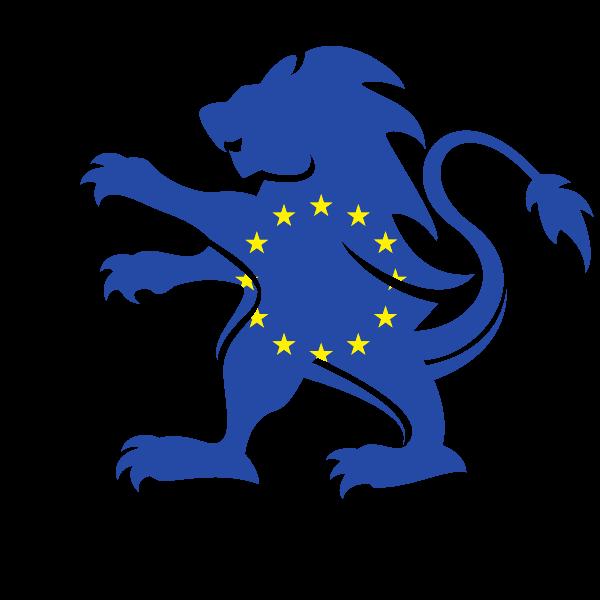 Eu flag lion heraldic crest