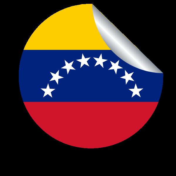 Venezuelan flag in a peeling sticker