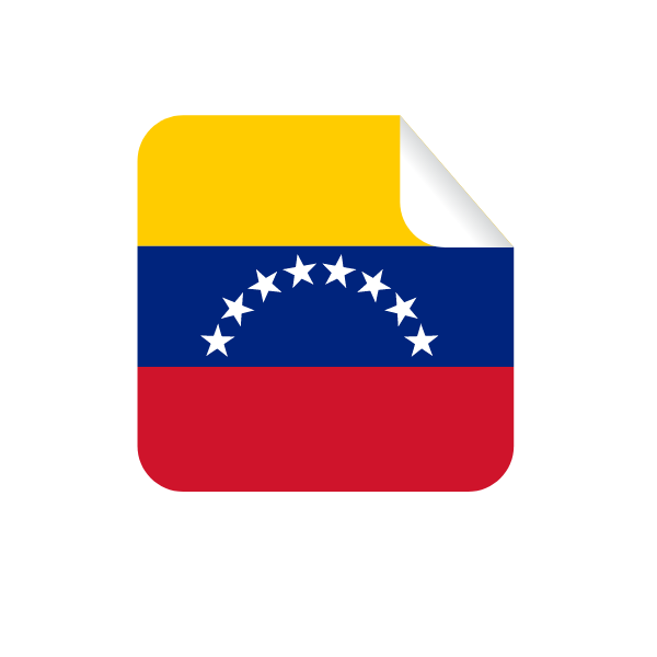 Venezuelan flag square sticker