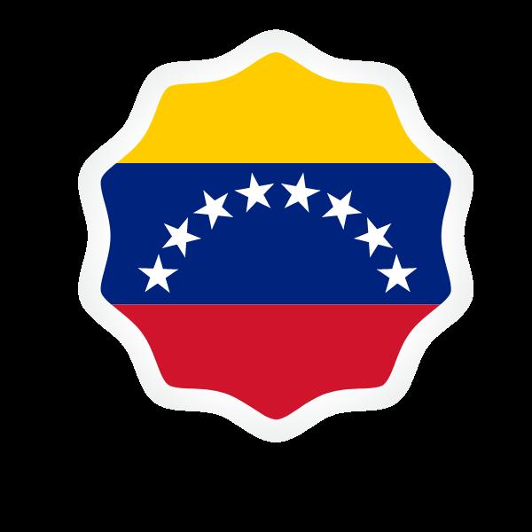 Venezuelan flag sticker symbol