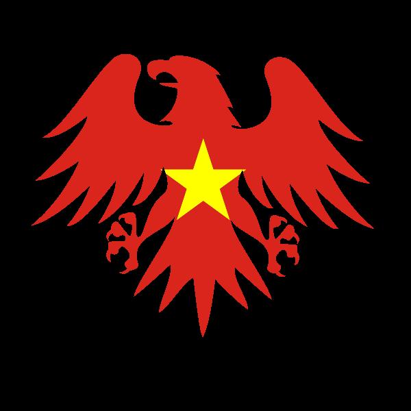 Vietnamese flag heraldic eagle