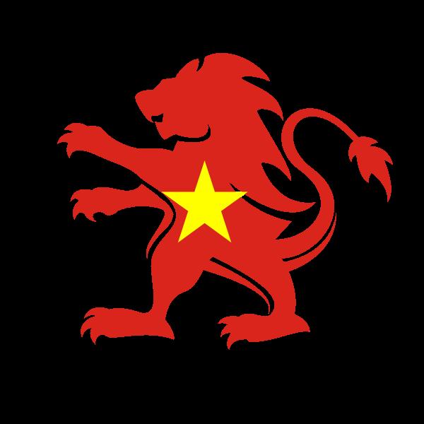 Vietnam flag lion crest