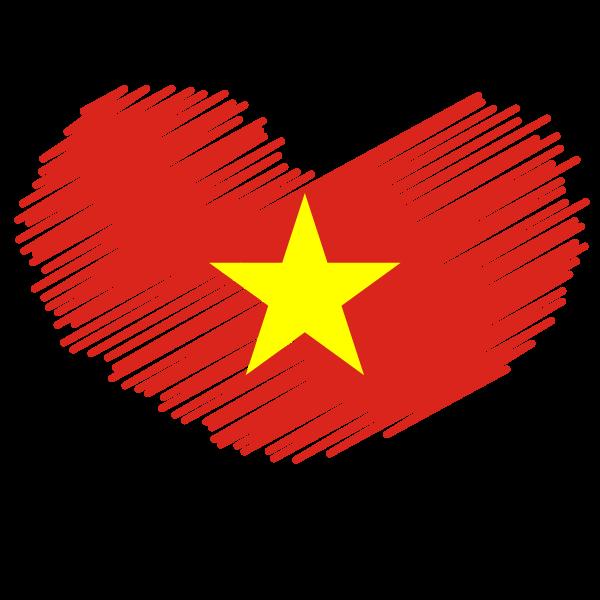 Vietnamese flag patriotic symbol