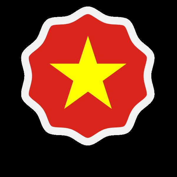 Vietnam flag sticker symbol