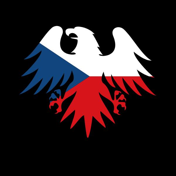 Czech flag heraldic eagle