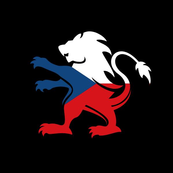 Czech flag heraldic lion