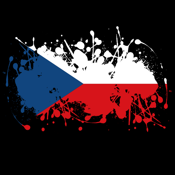 Czech flag ink splash