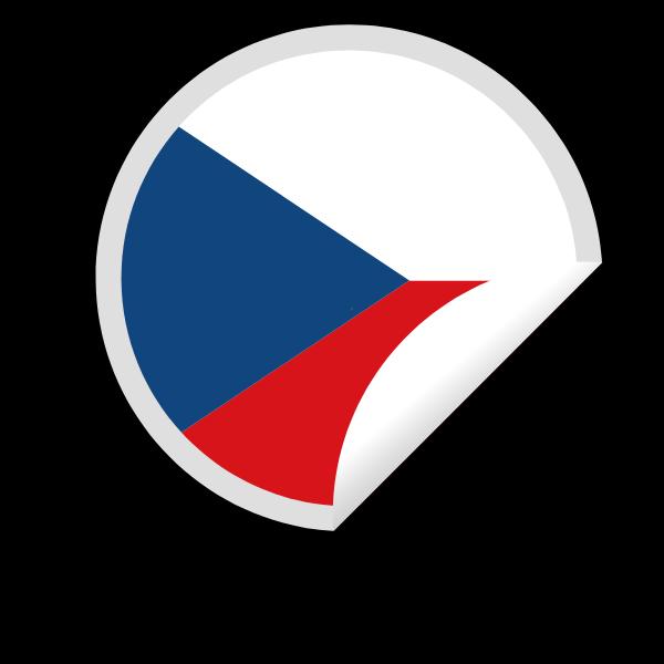 Czech flag sticker clip art