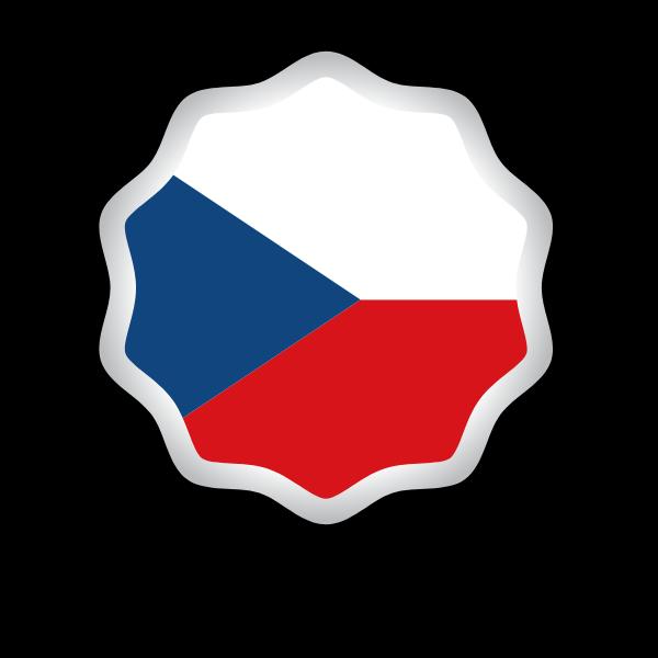 Czech flag sticker symbol