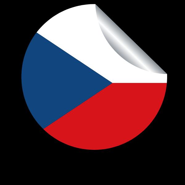 Flag of Czechia in a peeling sticker