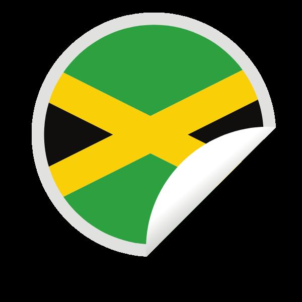 Jamaican flag in a peeling sticker