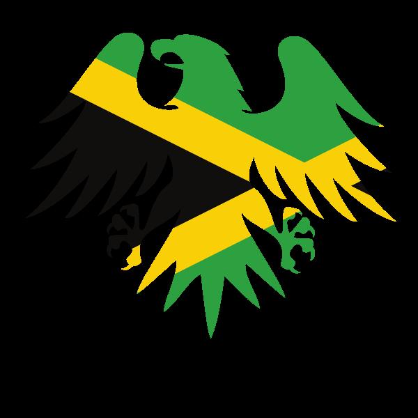 Jamaican flag heraldic eagle