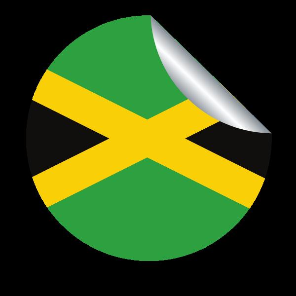Flag of Jamaican peeling sticker