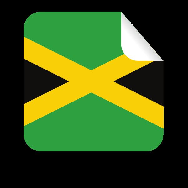 Jamaica flag sticker symbol