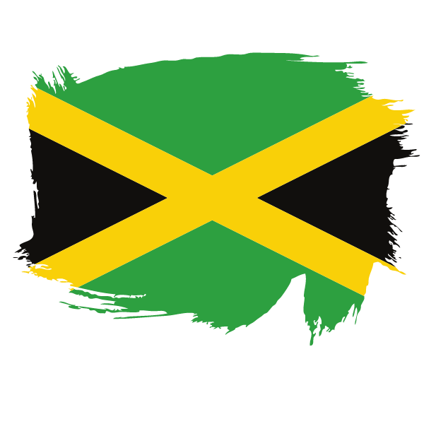 Painted flag of Jamaica