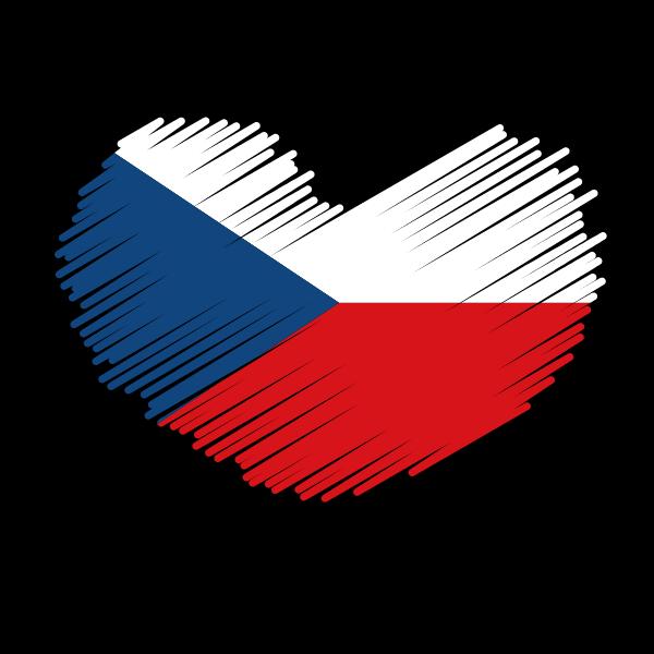 Patriotic symbol with Czech flag