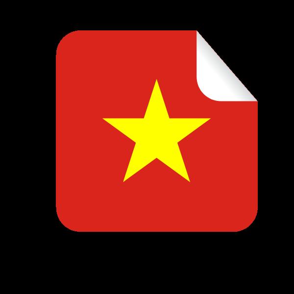 Vietnamese flag in a peeling sticker-1624276099