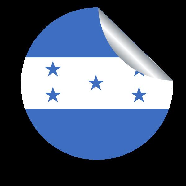 Honduras flag peeling sticker