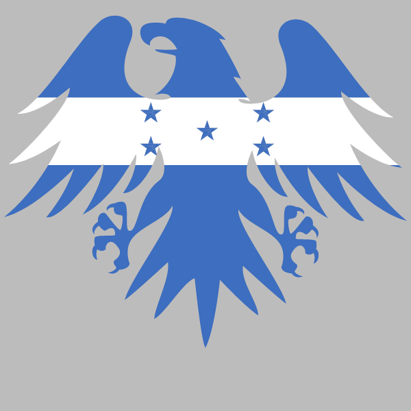 Honduras flag heraldic eagle emblem