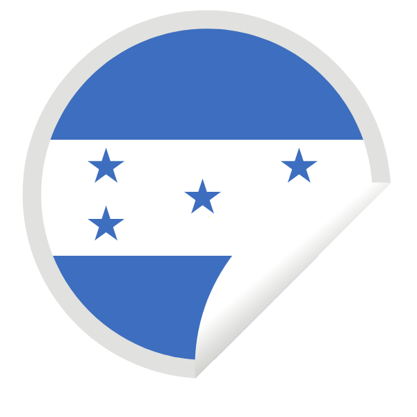 Honduras flag in a peeling sticker