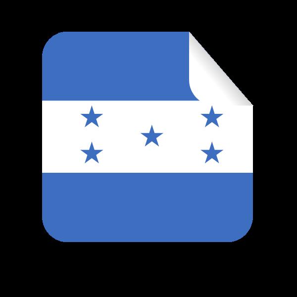Honduras square-shaped sticker flag