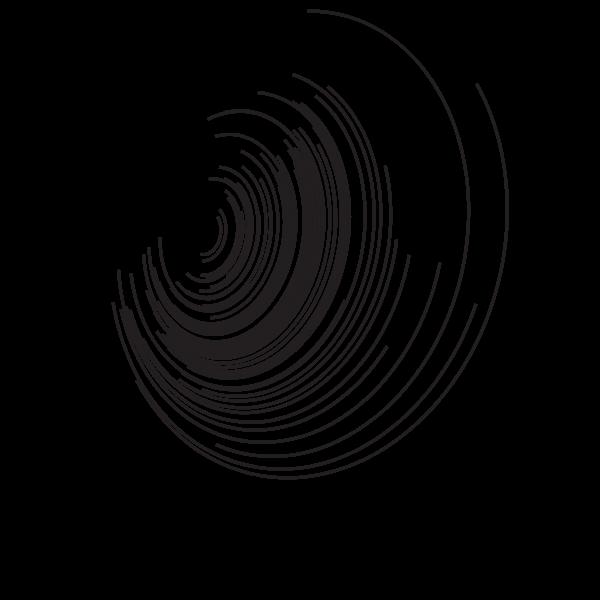 Lines curved shape black color