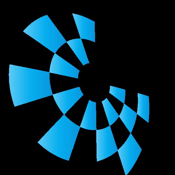 Blue tile logotype vector concept