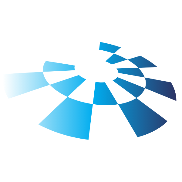 Blue tiles logo design element