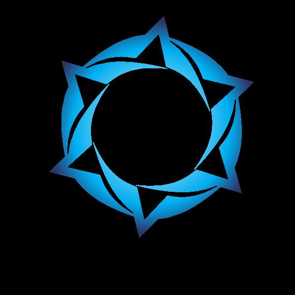 Blue logotype design concept tribal style