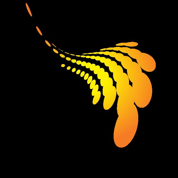 Halftone design element yellow color