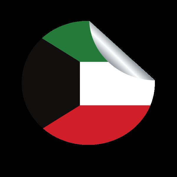 Kuwait flag peeling sticker