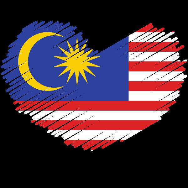 Malaysian flag patriotic symbol