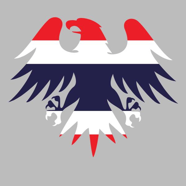 Thailand flag heraldic eagle emblem