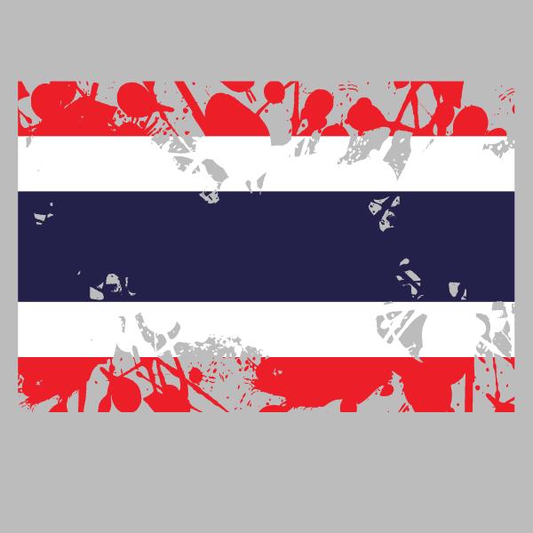 Thailand flag ink grunge