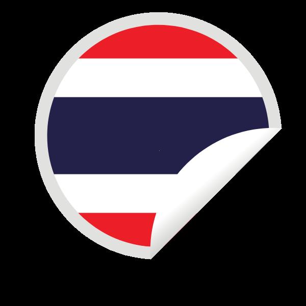 Thailand flag in a peeling sticker