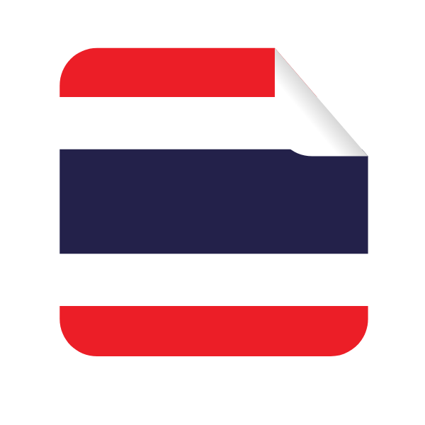 Thailand flag in a square-shaped sticker