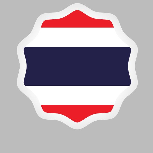 Thailand flag sticker symbol