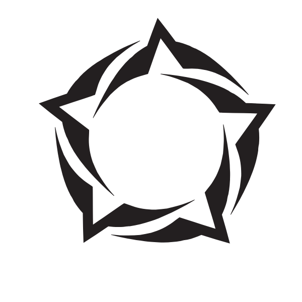 Tribal shape logotype concept