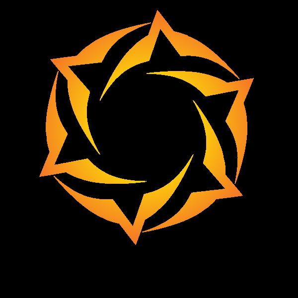 Yellow design element tribal style
