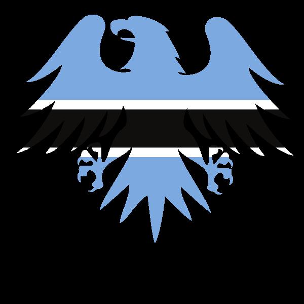 Botswana eagle flag emblem