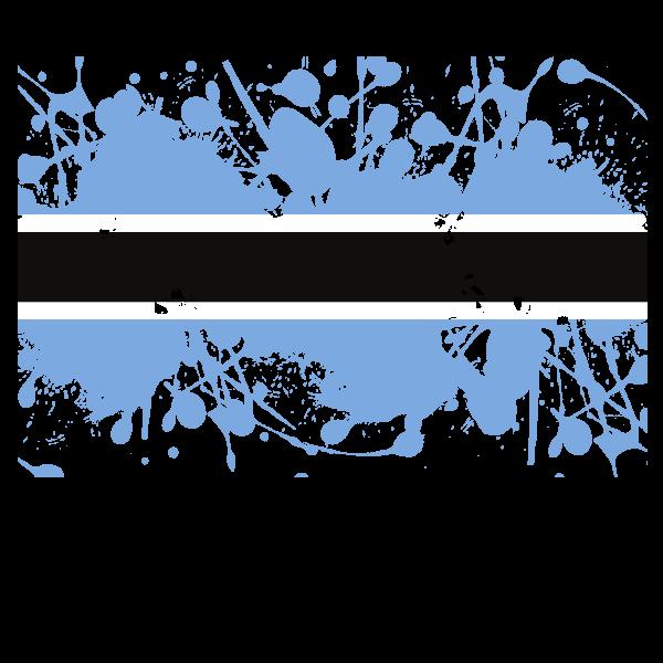 Botswana flag ink splatter