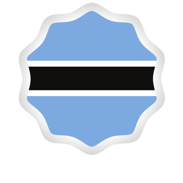 Botswana flag peeling sticker